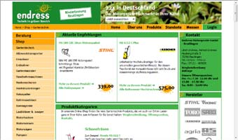 Individualisierte Website einer Filiale
