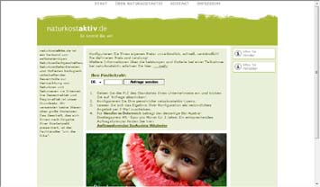 Der Preisrechner auf www.naturkostaktiv.de - Start