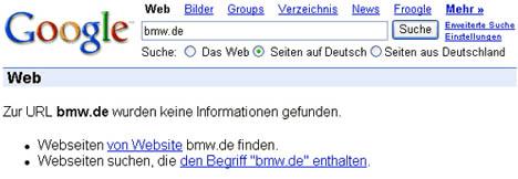 URL Unbekannt: bmw.de