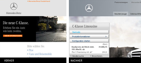 Das Mercedes-Benz-Logo früher und jetzt