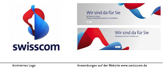 Das neue Swisscom-Logo