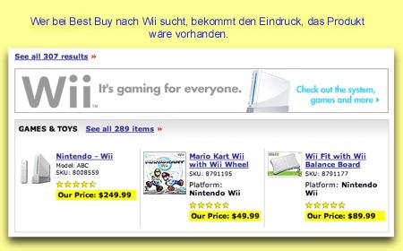 Die Suche nach Wii bei Best Buy