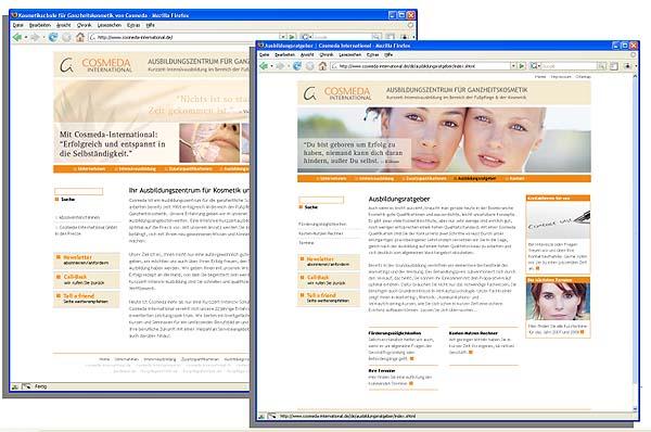 Web-Design zeigt Charakter