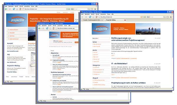 Web-Design mit einer gestalterischen Idee