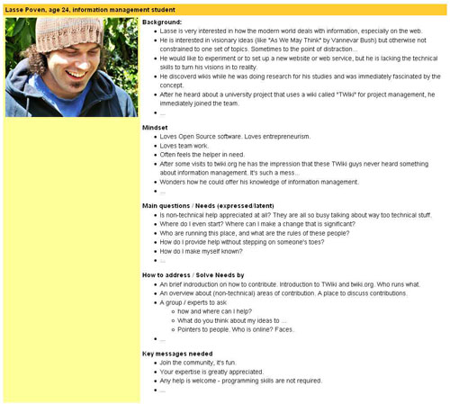 Eine ausführliche Persona von TWiki.org