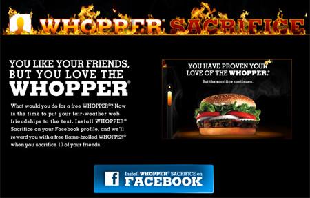 Die Whopper-Sacrifice-Aktion