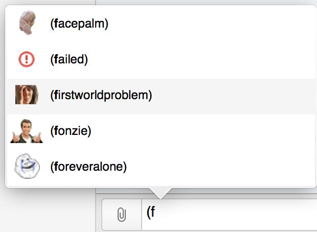 HipChat Emoticon Autocomplete