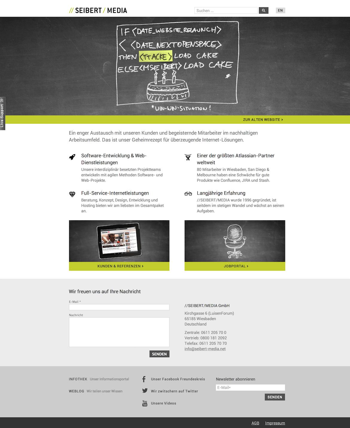 Seibert Media Website Screenshot