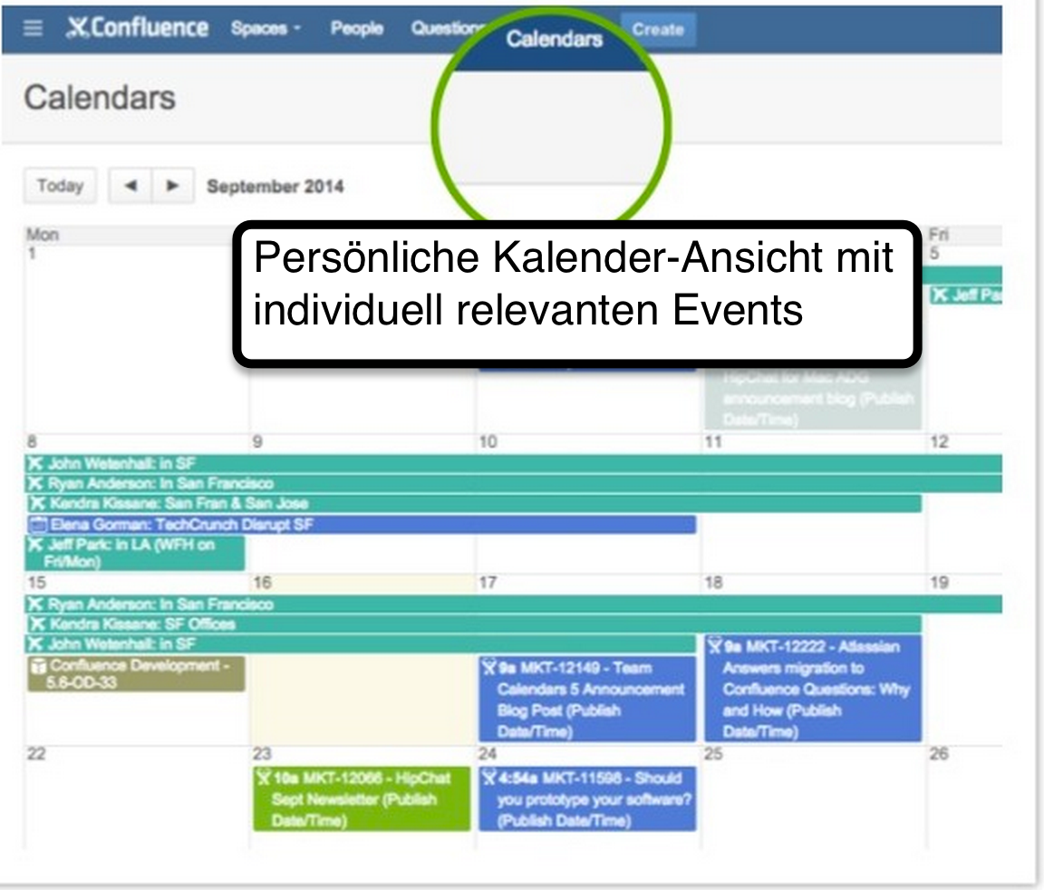 Team Calendars 5 Personal View