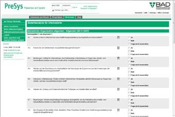 Eine interaktive Checkliste