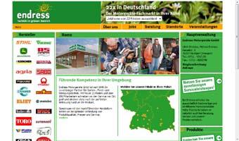 Die Portalseite www.endress-shop.de