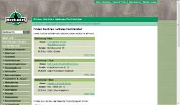 www.herkules-garten.de - eine Ergebnisseite