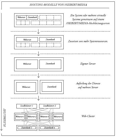 Hosting-Modelle bei //SEIBERT/MEDIA