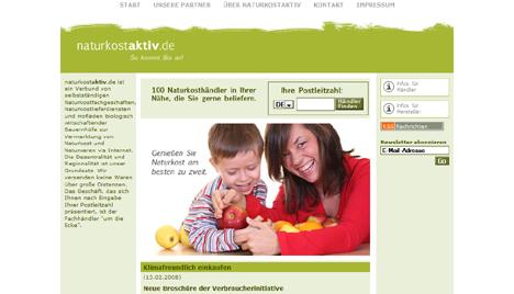 www.naturkostaktiv.de - die Startseite