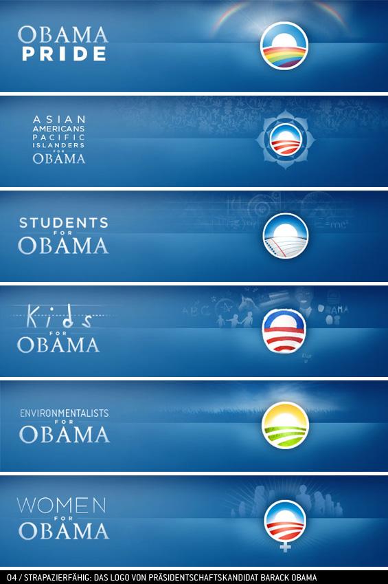 Logobeispiel Obama-Kampagne