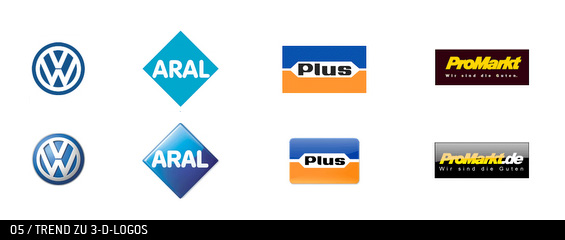 Logobeispiele für 3D-Logos