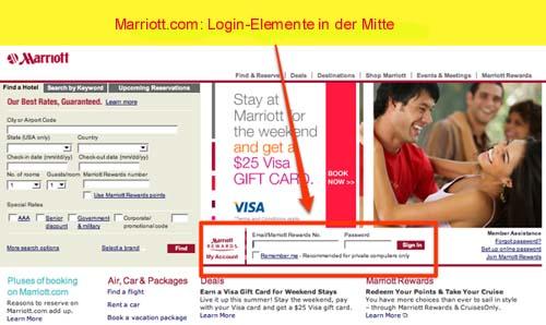 Die Marriott-Homepage