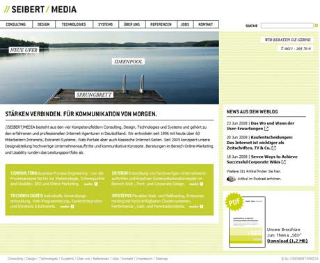 Die Homepage des //SEIBERT/MEDIA-Portals