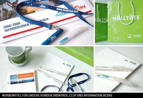 Werbemittel von //SEIBERT/MEDIA/DESIGN für Kunden