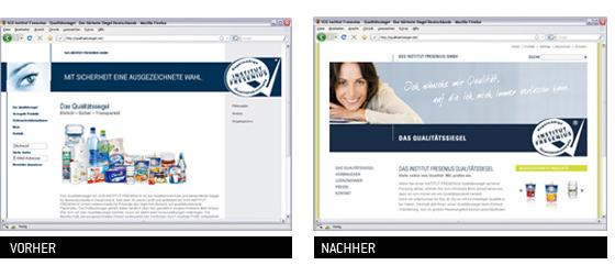 Alte und neue Homepage im Vergleich