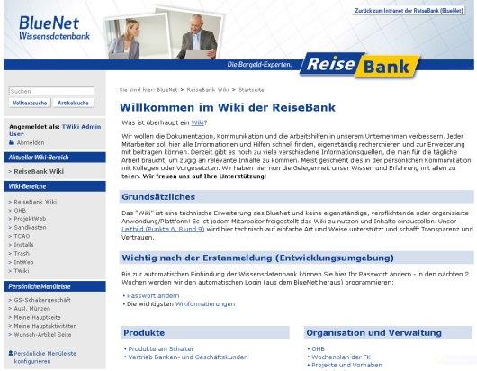 Die Portalseite des ReiseBank-Wikis