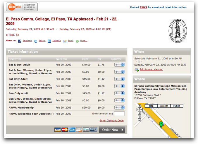 Eventbrite.com: Die Applesite-Registrierung