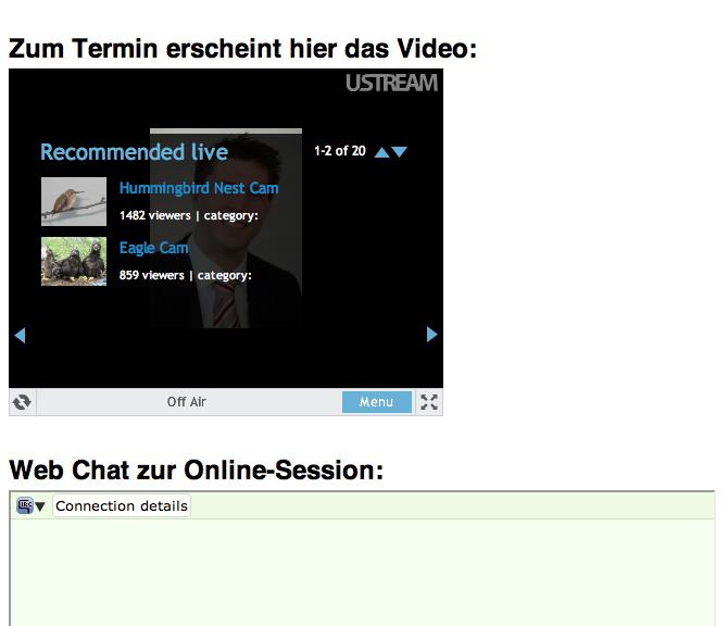 Vorschau auf die Live-Video-Session