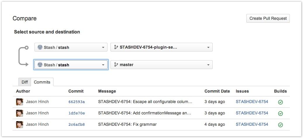 Stash 3 Branch-Vergleiche