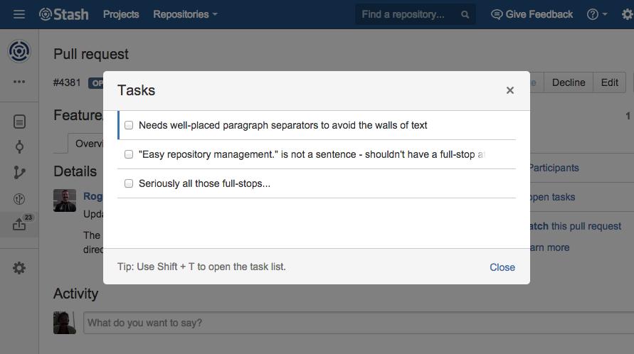 Stash 33 Pull Request Tasks 2