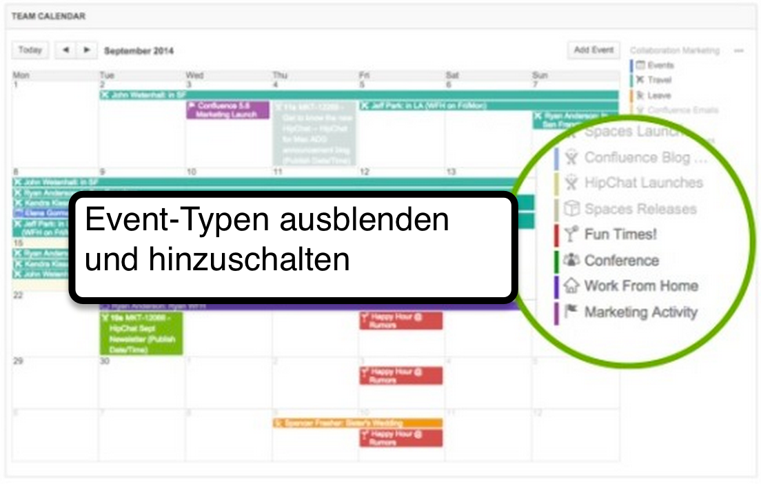 Team Calendars 5 Filter