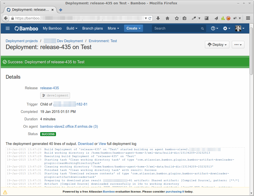 Bamboo Deployment-release