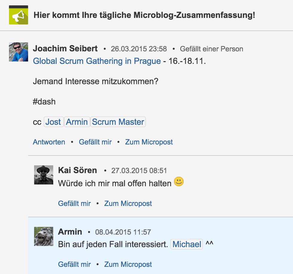Microblogging 15 Zusammenfassung