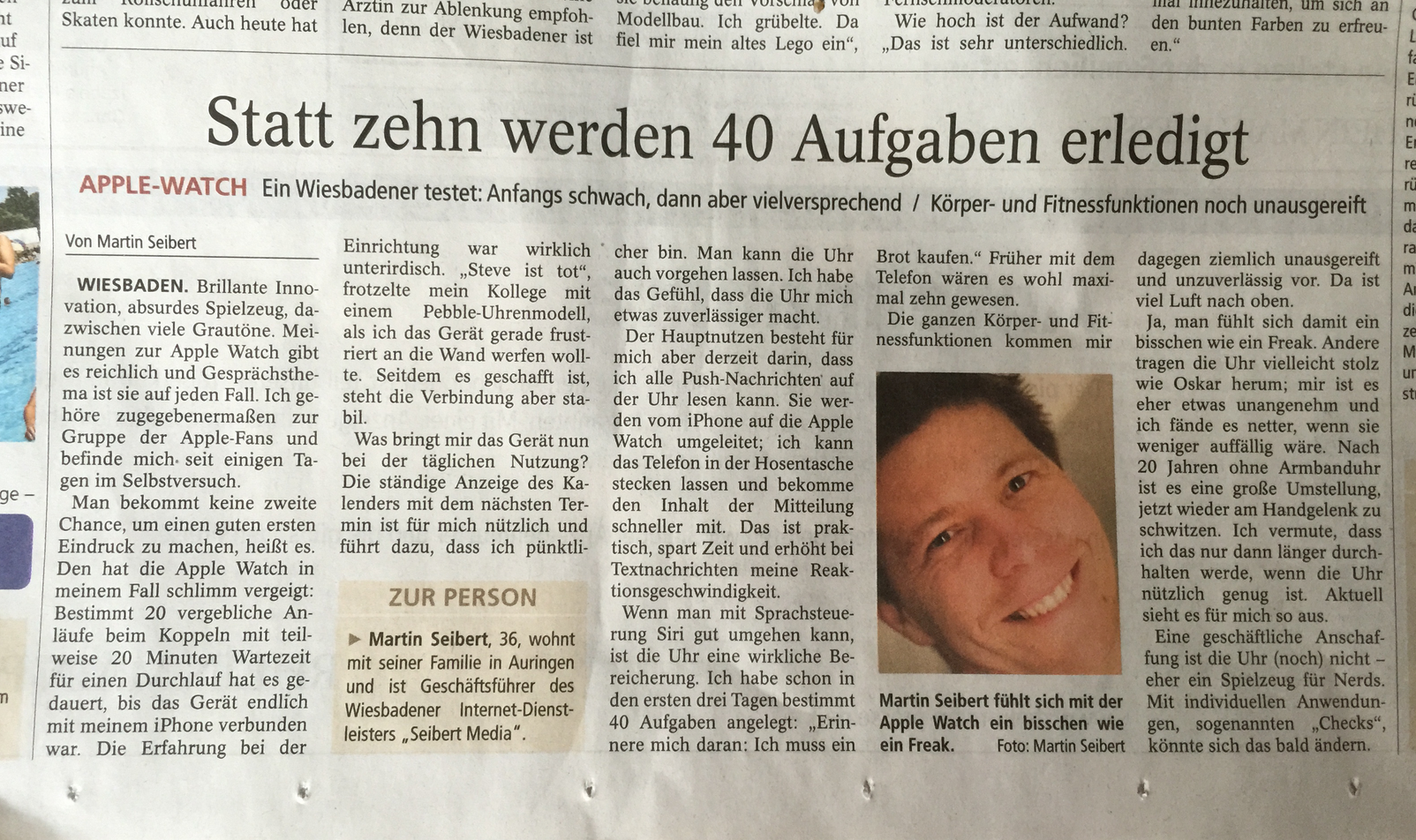 Apple Watch Wiesbadener Kurier