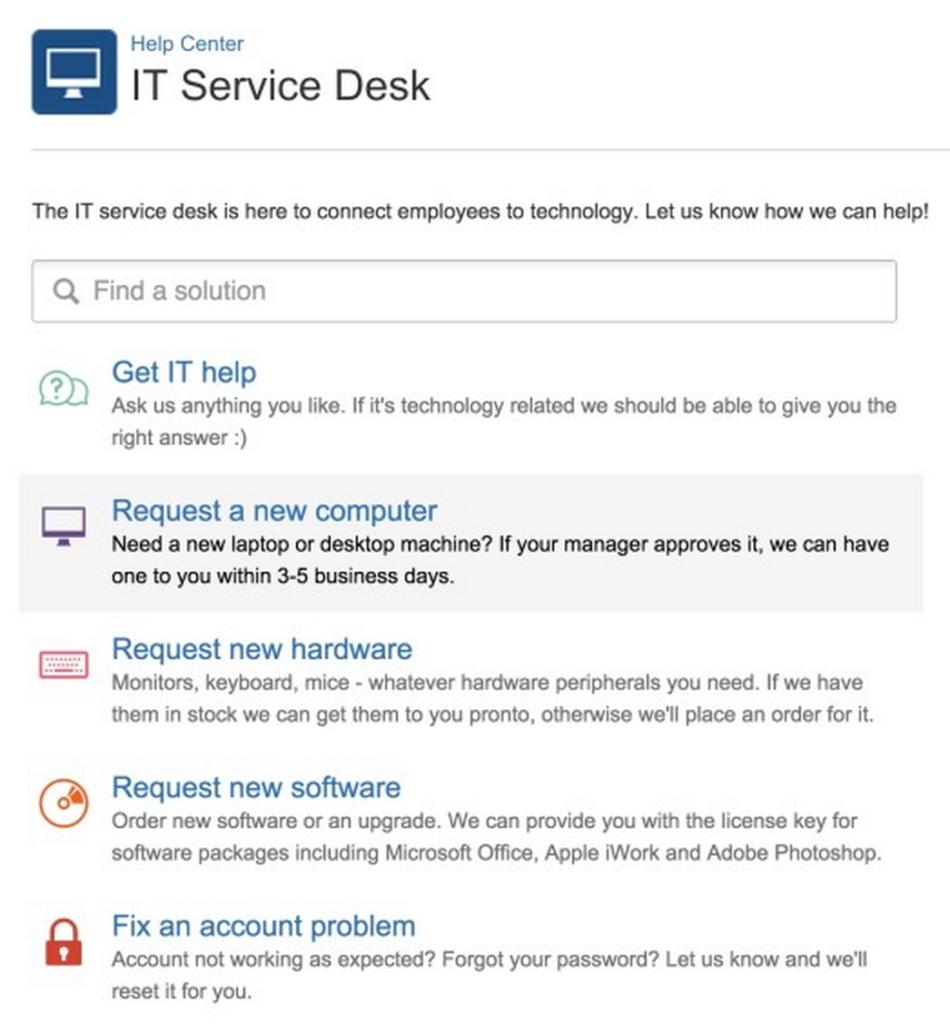 Der Grundstein für ein einfaches, intuitives Service Desk ...