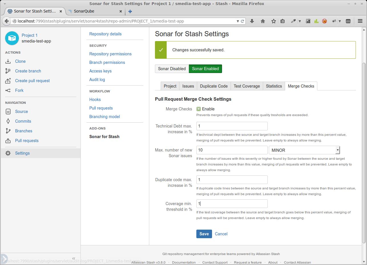 Konfiguration qualitativer Bedingungen für das Mergen eines Pull-Requests