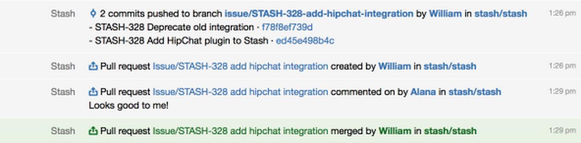 Stash HipChat Integration 1