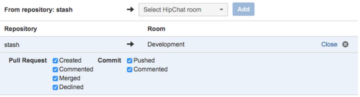 Stash HipChat Integration 2