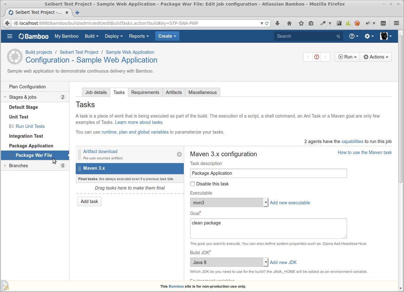 Maven Task zum Bauen und Packen der Web-Anwendung