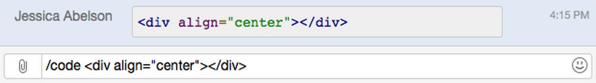 HipChat Code-Formatierung
