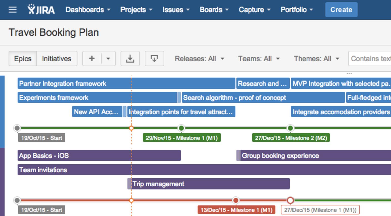 JIRA Portfolio Roadmap