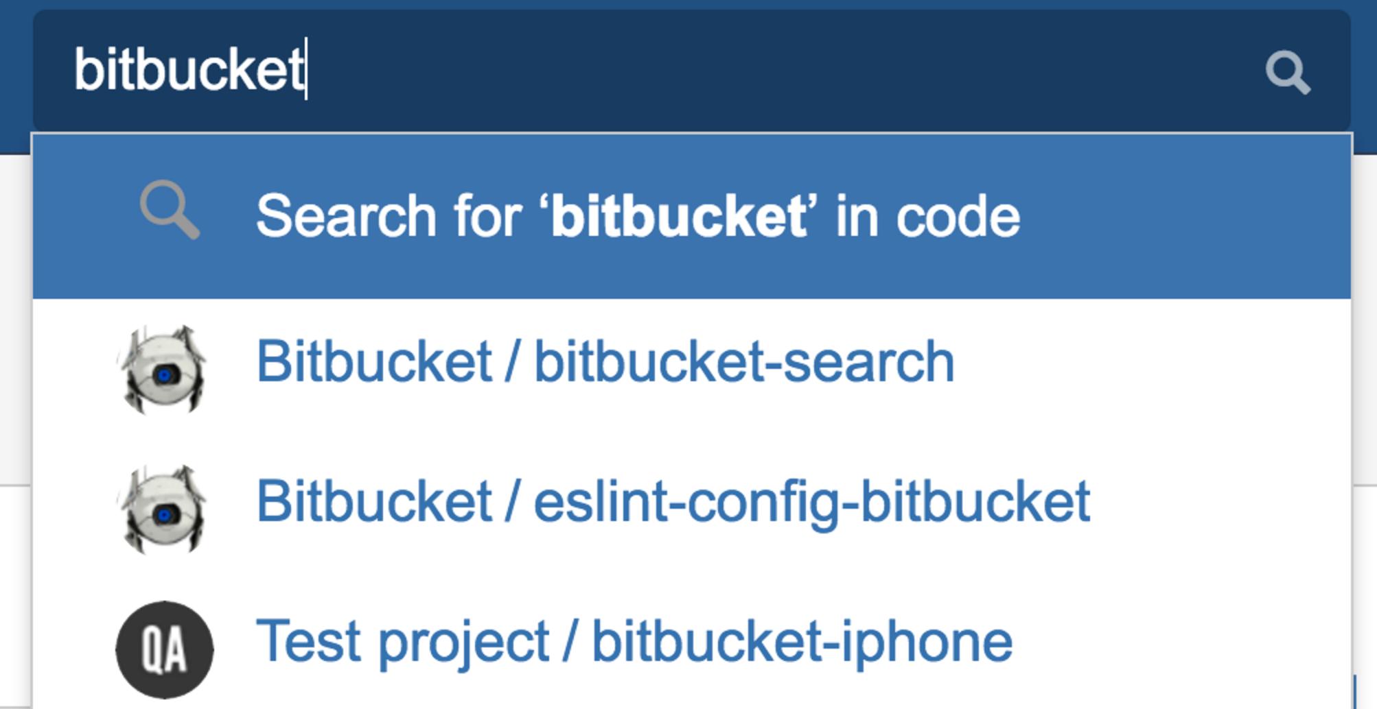 Bitbucket Code-Suche 1