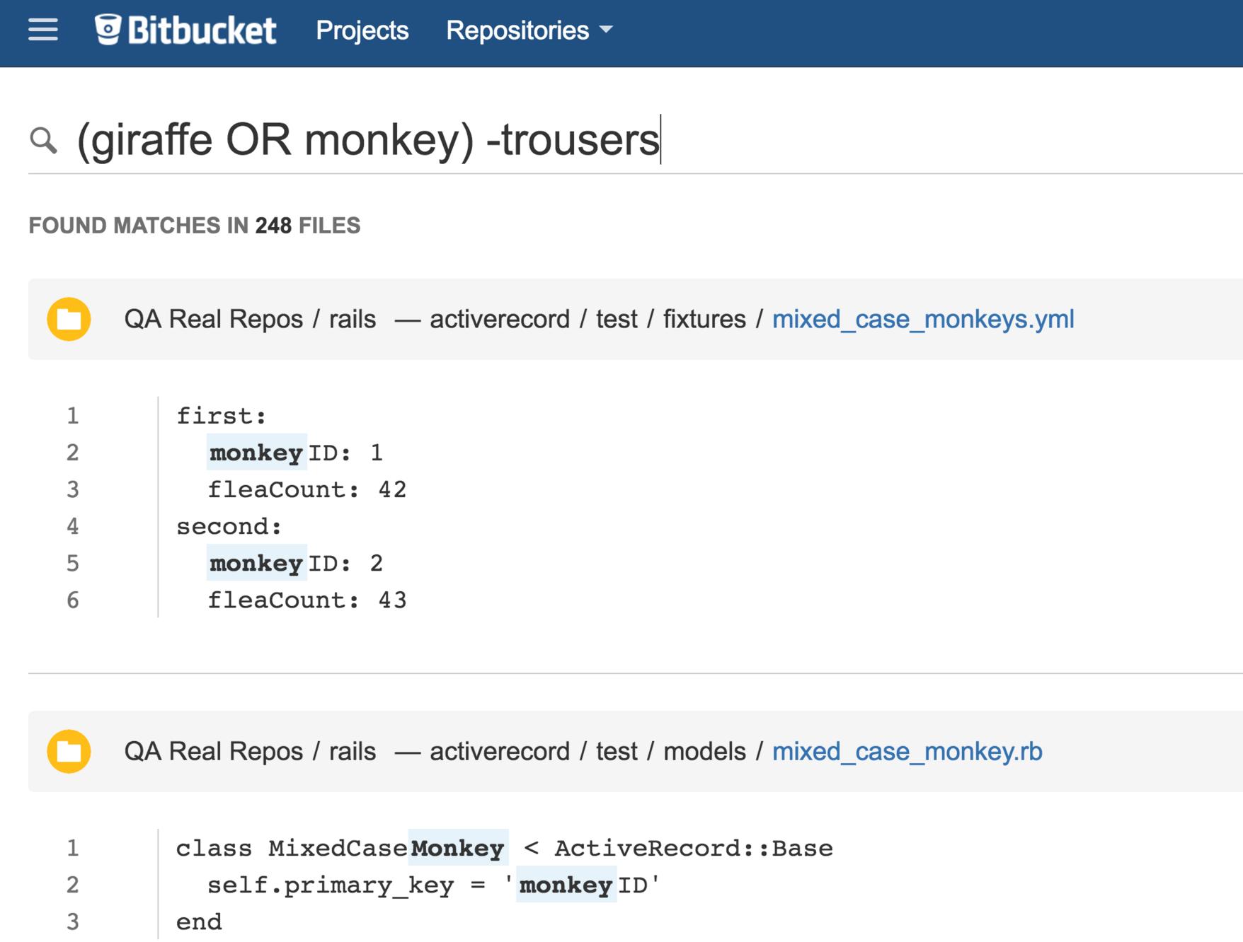 Bitbucket Code-Suche 3