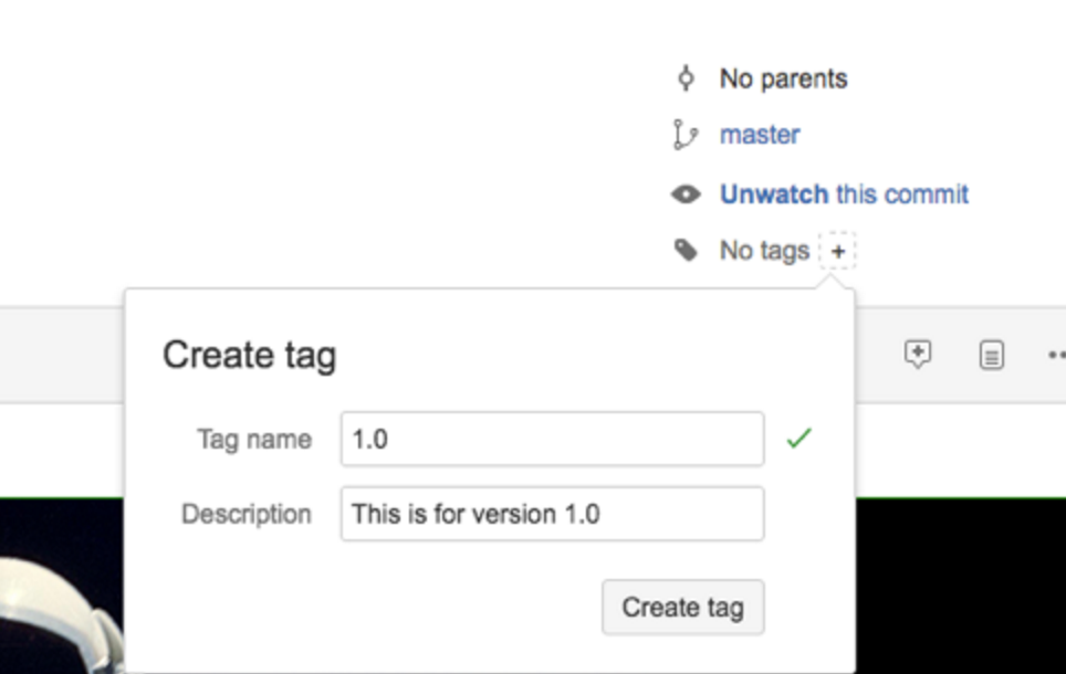 Bitbucket Create Tag