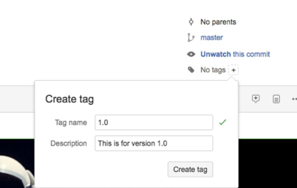 Bitbucket Create Tag