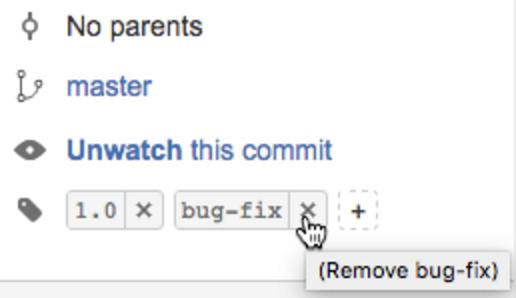 Bitbucket delete Tag