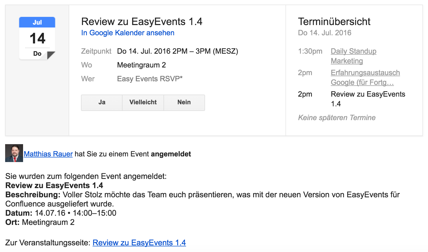 Easy Events ICS-Dateien