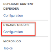 Dynamic User Groups - Configuration