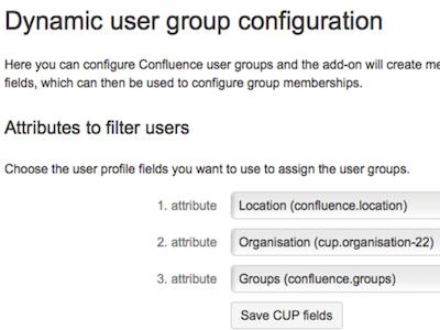 Confluence-Benutzergruppen auf Basis von Profil-Infos aus dem Custom User Profile automatisch auffüllen? Das kann das DUG - Dynamic User Groups Add-on.