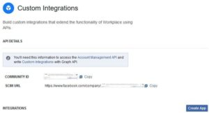 Workplace by Facebook Custom Integrations)