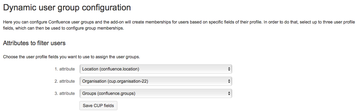 Dynamic User Groups - Configure attributes